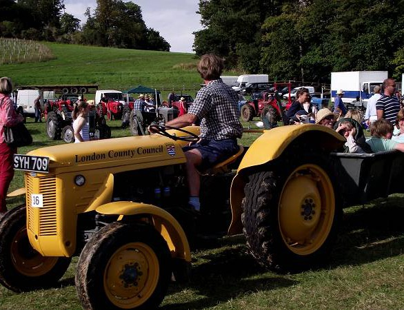 The LCC tractor at an event